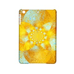 Gold Blue Abstract Blossom iPad Mini 2 Hardshell Cases