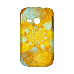 Gold Blue Abstract Blossom Samsung Galaxy S6310 Hardshell Case