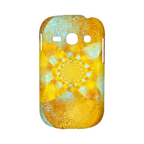 Gold Blue Abstract Blossom Samsung Galaxy S6810 Hardshell Case