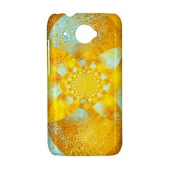 Gold Blue Abstract Blossom HTC Desire 601 Hardshell Case