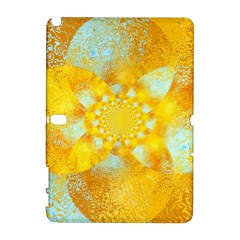 Gold Blue Abstract Blossom Samsung Galaxy Note 10.1 (P600) Hardshell Case