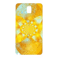 Gold Blue Abstract Blossom Samsung Galaxy Note 3 N9005 Hardshell Back Case
