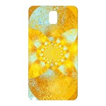 Gold Blue Abstract Blossom Samsung Galaxy Note 3 N9005 Hardshell Back Case Front