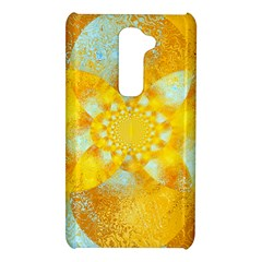 Gold Blue Abstract Blossom LG G2