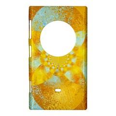 Gold Blue Abstract Blossom Nokia Lumia 1020
