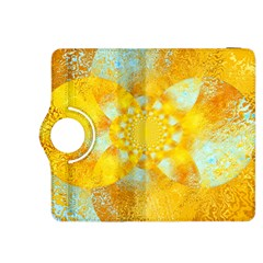 Gold Blue Abstract Blossom Kindle Fire HDX 8.9  Flip 360 Case