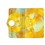 Gold Blue Abstract Blossom Kindle Fire HDX 8.9  Flip 360 Case Front