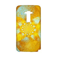 Gold Blue Abstract Blossom LG G Flex