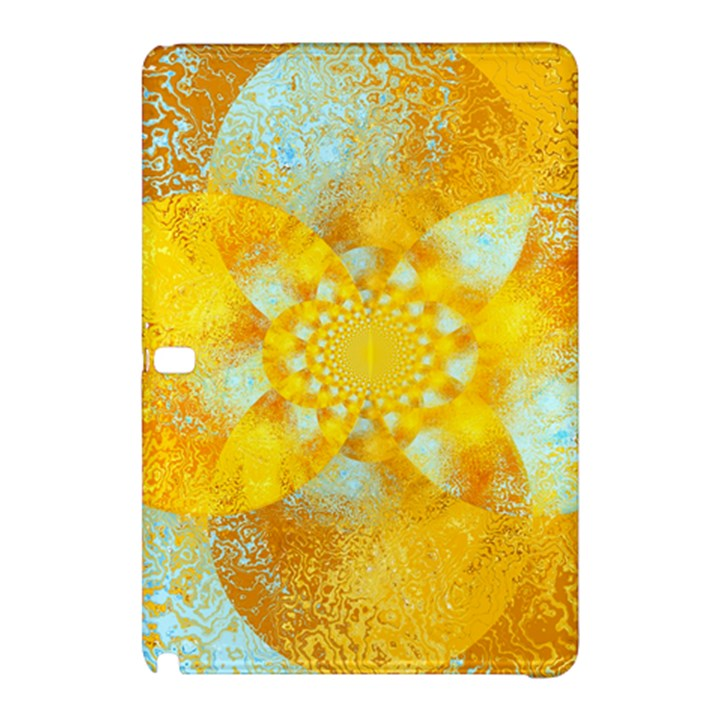 Gold Blue Abstract Blossom Samsung Galaxy Tab Pro 10.1 Hardshell Case