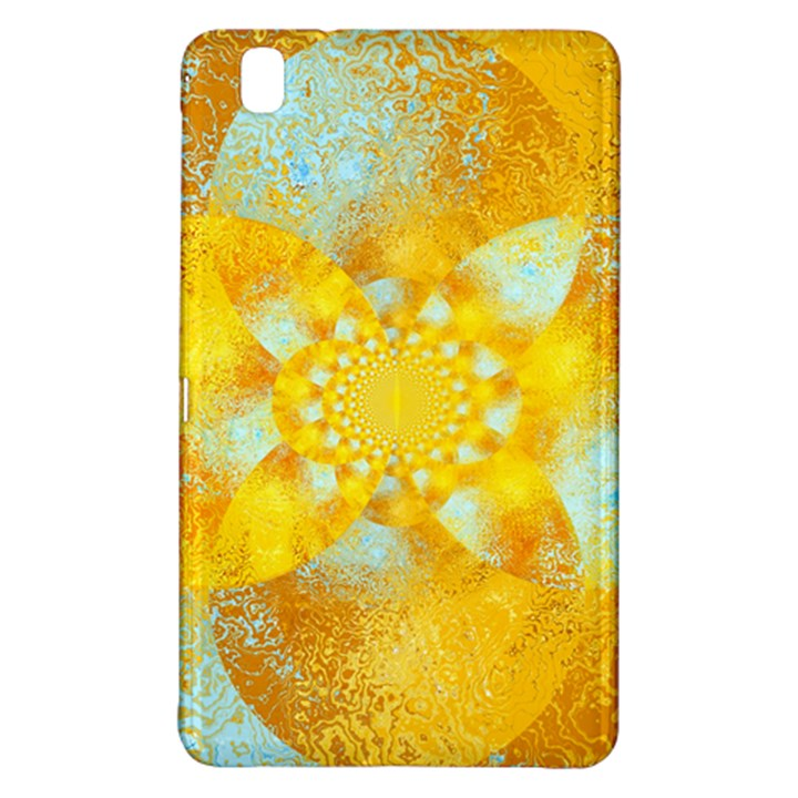 Gold Blue Abstract Blossom Samsung Galaxy Tab Pro 8.4 Hardshell Case