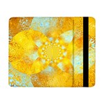 Gold Blue Abstract Blossom Samsung Galaxy Tab Pro 8.4  Flip Case Front