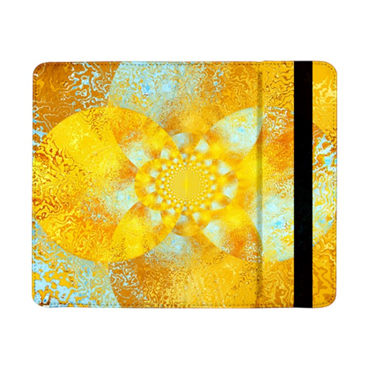 Gold Blue Abstract Blossom Samsung Galaxy Tab Pro 8.4  Flip Case