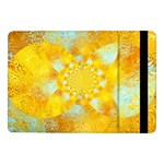 Gold Blue Abstract Blossom Samsung Galaxy Tab Pro 10.1  Flip Case Front