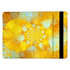 Gold Blue Abstract Blossom Samsung Galaxy Tab Pro 12.2  Flip Case