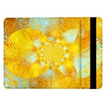 Gold Blue Abstract Blossom Samsung Galaxy Tab Pro 12.2  Flip Case Front