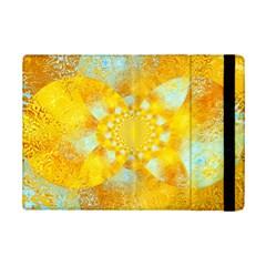 Gold Blue Abstract Blossom Ipad Mini 2 Flip Cases