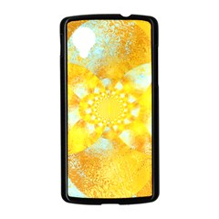 Gold Blue Abstract Blossom Nexus 5 Case (Black)