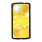 Gold Blue Abstract Blossom Nexus 5 Case (Black) Front