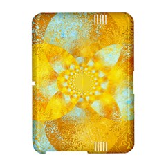 Gold Blue Abstract Blossom Amazon Kindle Fire (2012) Hardshell Case