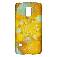 Gold Blue Abstract Blossom Galaxy S5 Mini