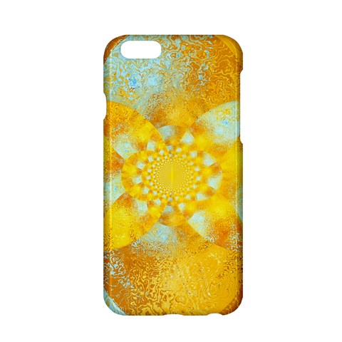 Gold Blue Abstract Blossom Apple iPhone 6/6S Hardshell Case