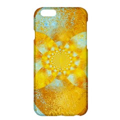 Gold Blue Abstract Blossom Apple iPhone 6 Plus/6S Plus Hardshell Case