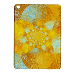 Gold Blue Abstract Blossom iPad Air 2 Hardshell Cases