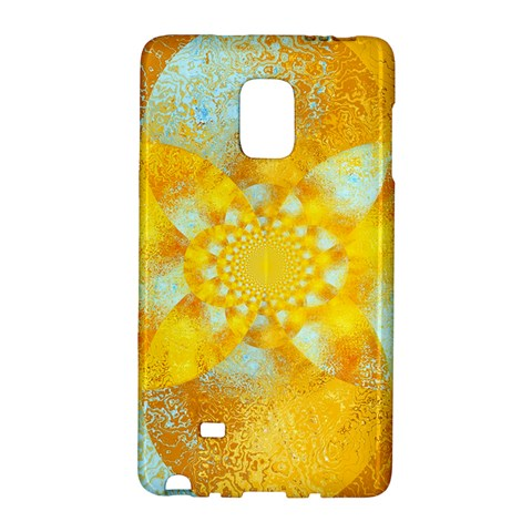 Gold Blue Abstract Blossom Galaxy Note Edge