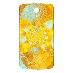 Gold Blue Abstract Blossom Samsung Galaxy Mega I9200 Hardshell Back Case