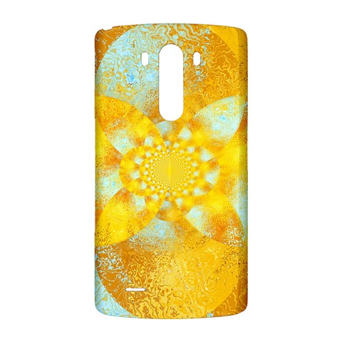 Gold Blue Abstract Blossom LG G3 Back Case