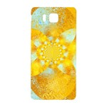 Gold Blue Abstract Blossom Samsung Galaxy Alpha Hardshell Back Case Front