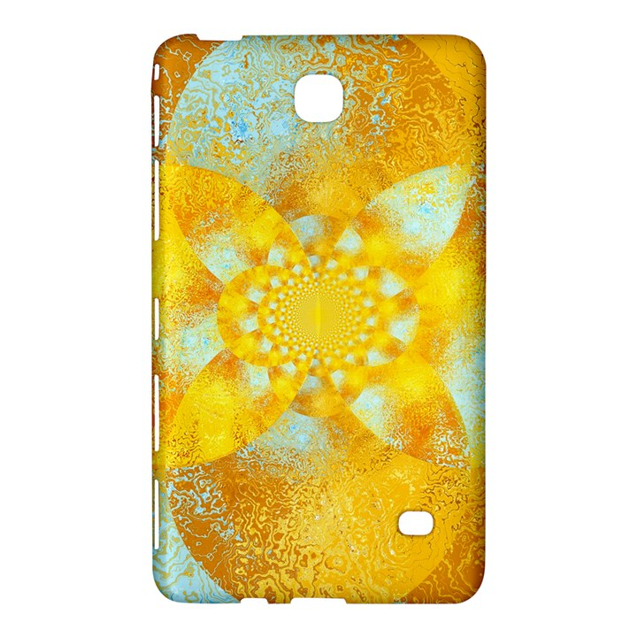 Gold Blue Abstract Blossom Samsung Galaxy Tab 4 (8 ) Hardshell Case