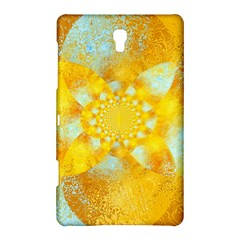 Gold Blue Abstract Blossom Samsung Galaxy Tab S (8.4 ) Hardshell Case