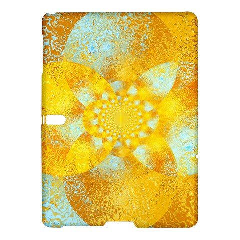 Gold Blue Abstract Blossom Samsung Galaxy Tab S (10.5 ) Hardshell Case