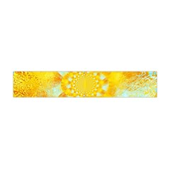 Gold Blue Abstract Blossom Flano Scarf (Mini)