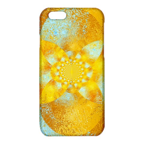 Gold Blue Abstract Blossom iPhone 6/6S TPU Case