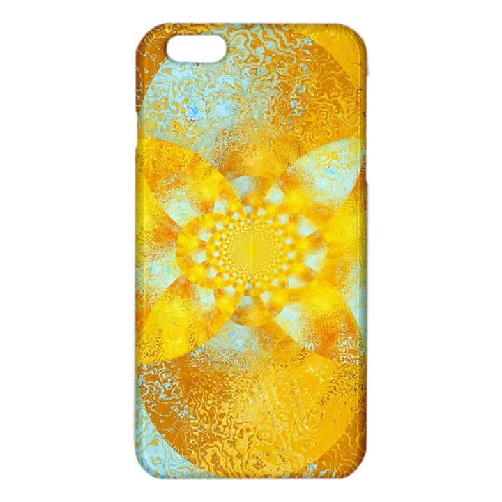Gold Blue Abstract Blossom iPhone 6 Plus/6S Plus TPU Case