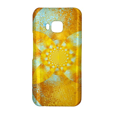 Gold Blue Abstract Blossom HTC One M9 Hardshell Case