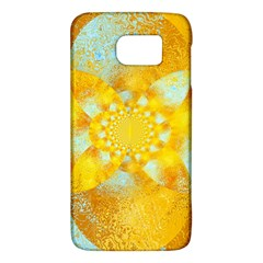 Gold Blue Abstract Blossom Galaxy S6