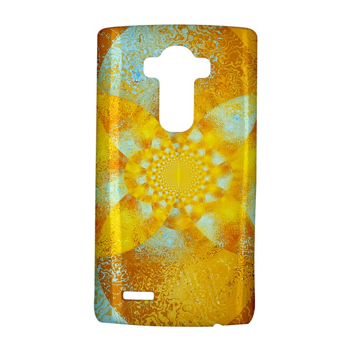 Gold Blue Abstract Blossom LG G4 Hardshell Case