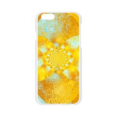Gold Blue Abstract Blossom Apple Seamless iPhone 6/6S Case (Transparent)