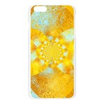 Gold Blue Abstract Blossom Apple Seamless iPhone 6 Plus/6S Plus Case (Transparent) Front