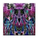 Sly Dog Modern Grunge Style Blue Pink Violet Tile Coasters Front