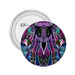 Sly Dog Modern Grunge Style Blue Pink Violet 2.25  Buttons Front