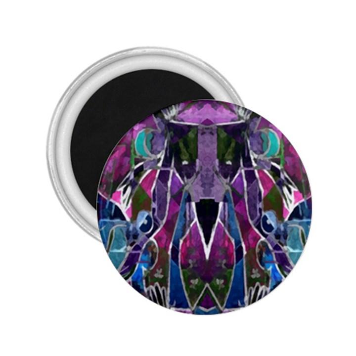Sly Dog Modern Grunge Style Blue Pink Violet 2.25  Magnets