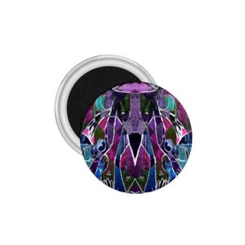 Sly Dog Modern Grunge Style Blue Pink Violet 1.75  Magnets