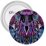 Sly Dog Modern Grunge Style Blue Pink Violet 3  Buttons Front