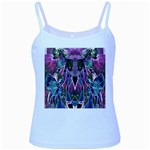 Sly Dog Modern Grunge Style Blue Pink Violet Baby Blue Spaghetti Tank Front