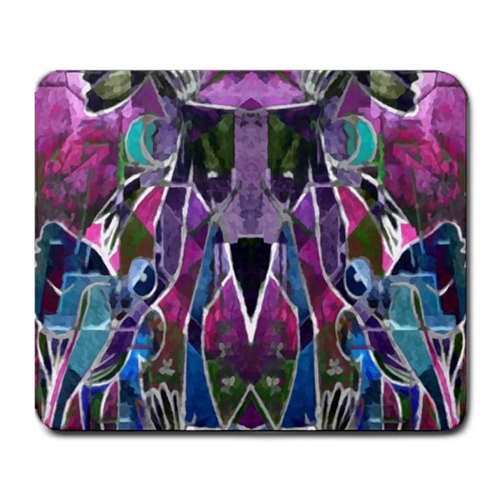 Sly Dog Modern Grunge Style Blue Pink Violet Large Mousepads