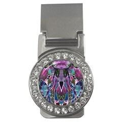 Sly Dog Modern Grunge Style Blue Pink Violet Money Clips (CZ)